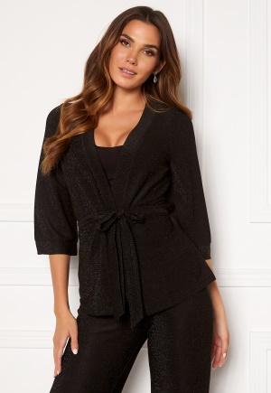 Happy Holly Estelle lurex kimono jacket Black 40/42