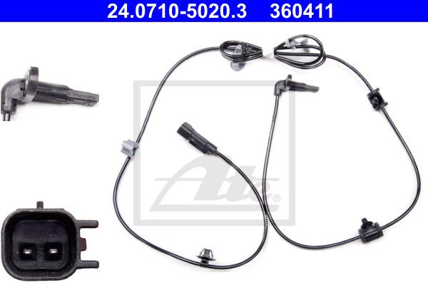 ABS-anturi ATE 24.0710-5020.3