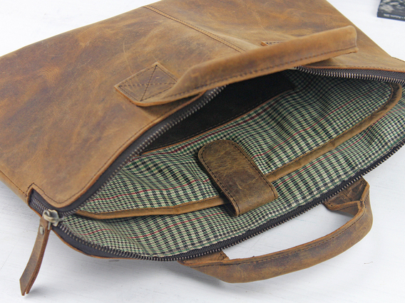 Leather Laptop Bag 13 Inch For Men Brown