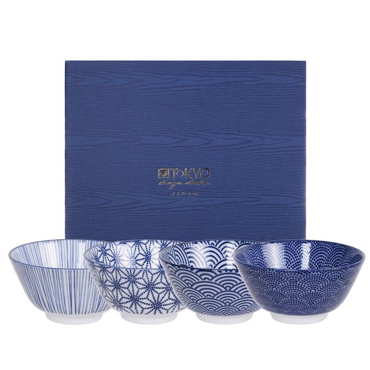 Tokyo Design Studio Nippon Blue skål 12 cm. 4 st.