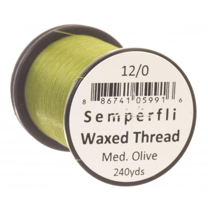 Semperfli Classic Waxed Thread Medium Olive 12/0
