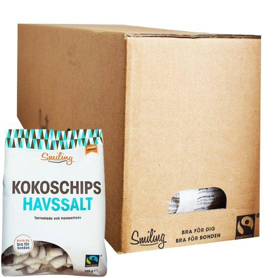 Hel Låda Kokoschips Havssalt 6 x 125g - 38% rabatt