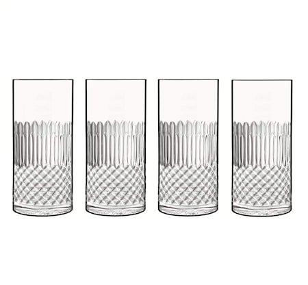 Diamante ølglass/longdrinkglass 4 stk. klar 48 cl Ø 7,2 cm H 15,7 cm Luigi Bormioli