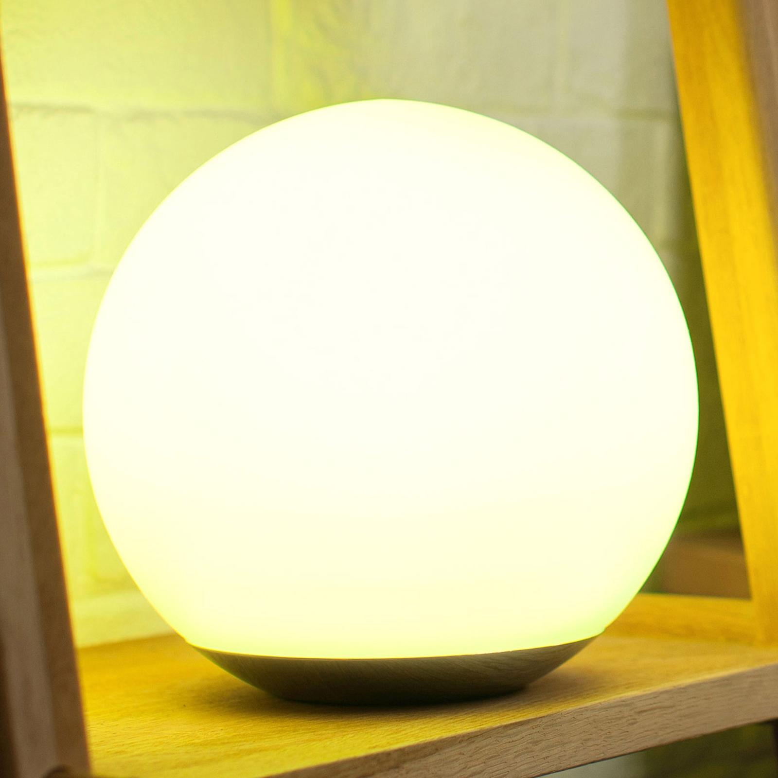 Spirit-LED-pöytävalaisin, WiZ-teknologialla, lasia