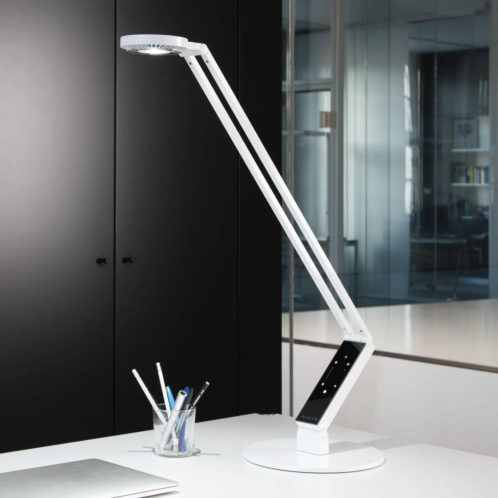 Luctra LED-bordlampe TableProRadial fot hvit