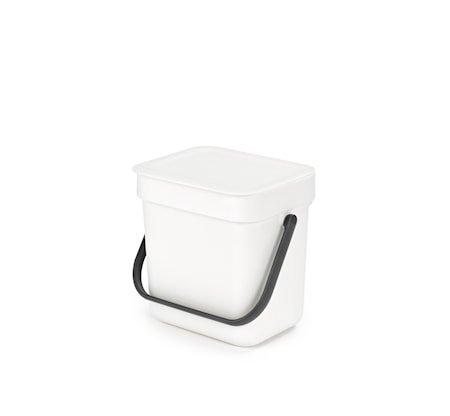 Avfallsbøtte Sort & Go Hvit 3 L