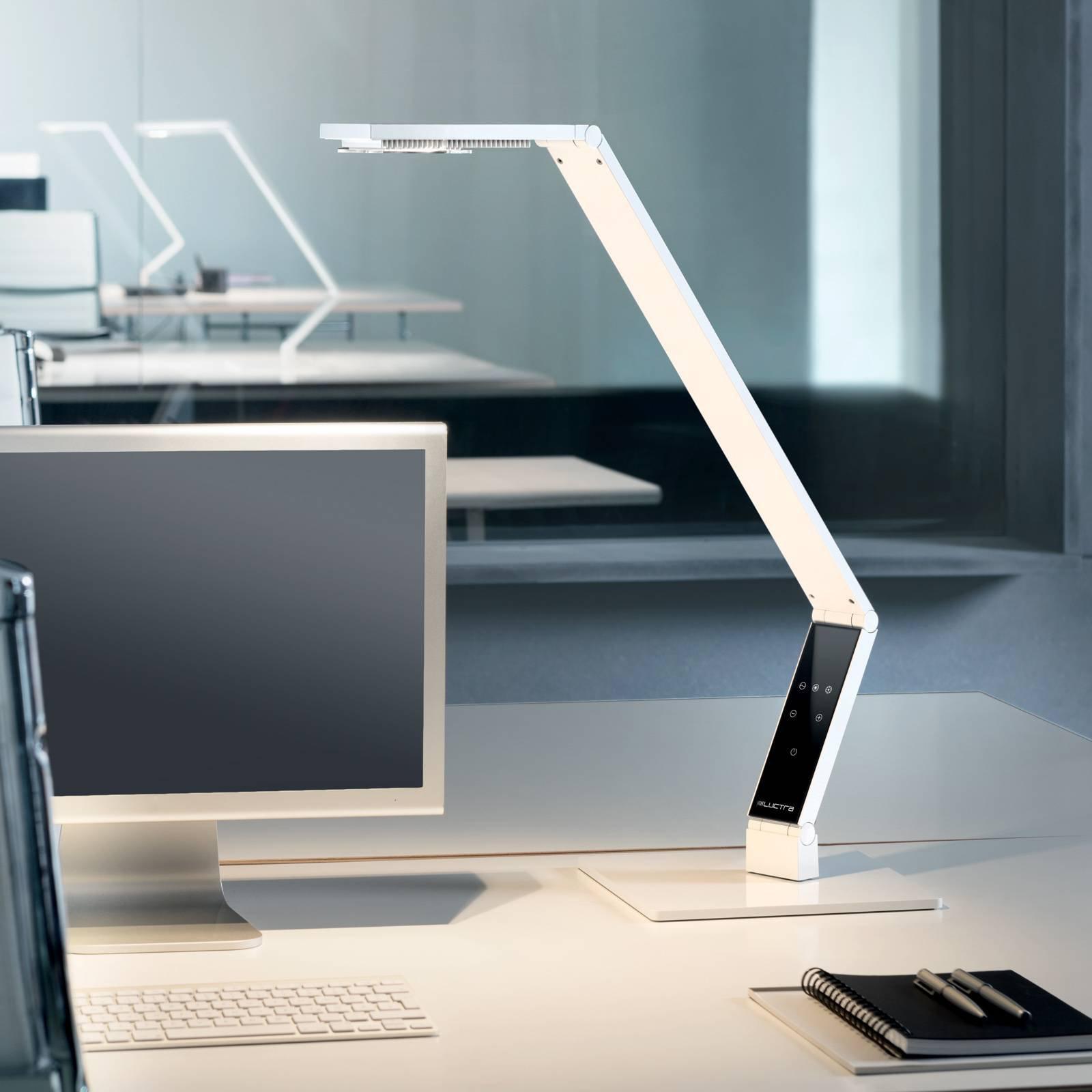 Luctra Tabel Linear LED-bordlampe fot, hvit
