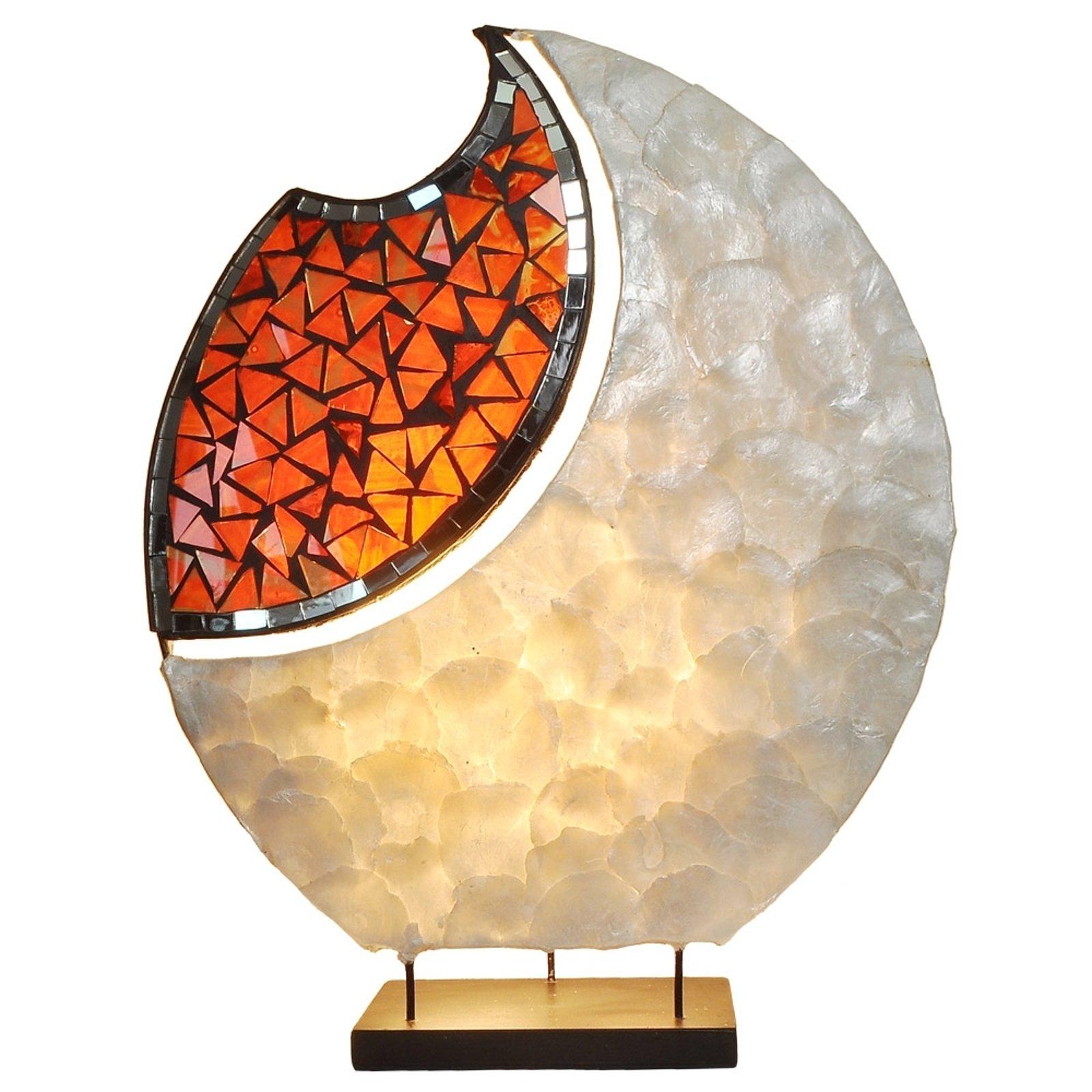 Dekorert bordlampe YOKO