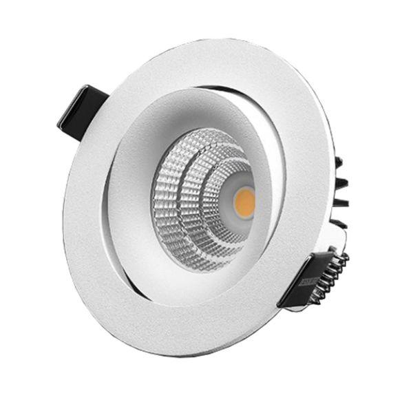 Designlight P-1602530 Downlight-valaisin 7 W, kallistettava, valkoinen 3000 K