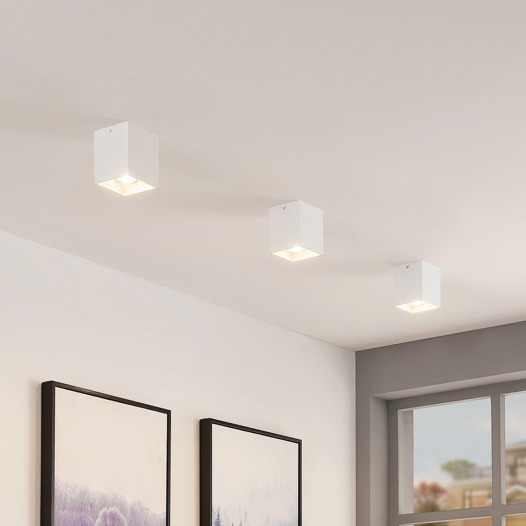 ELC Efey taklampe, GU10, kantet, hvit