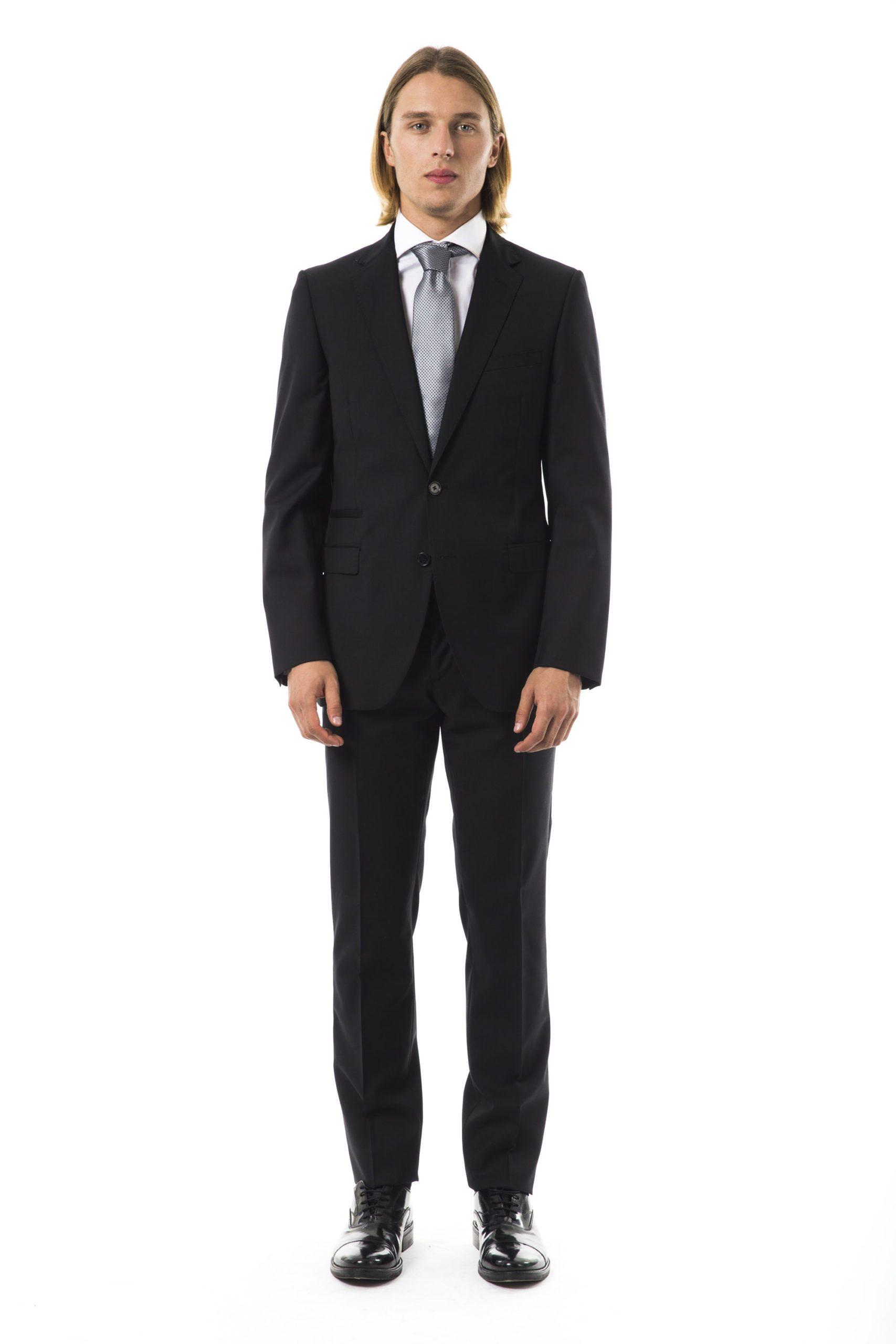 Uominitaliani Men's R Suit Black UO997024 - IT50 | L