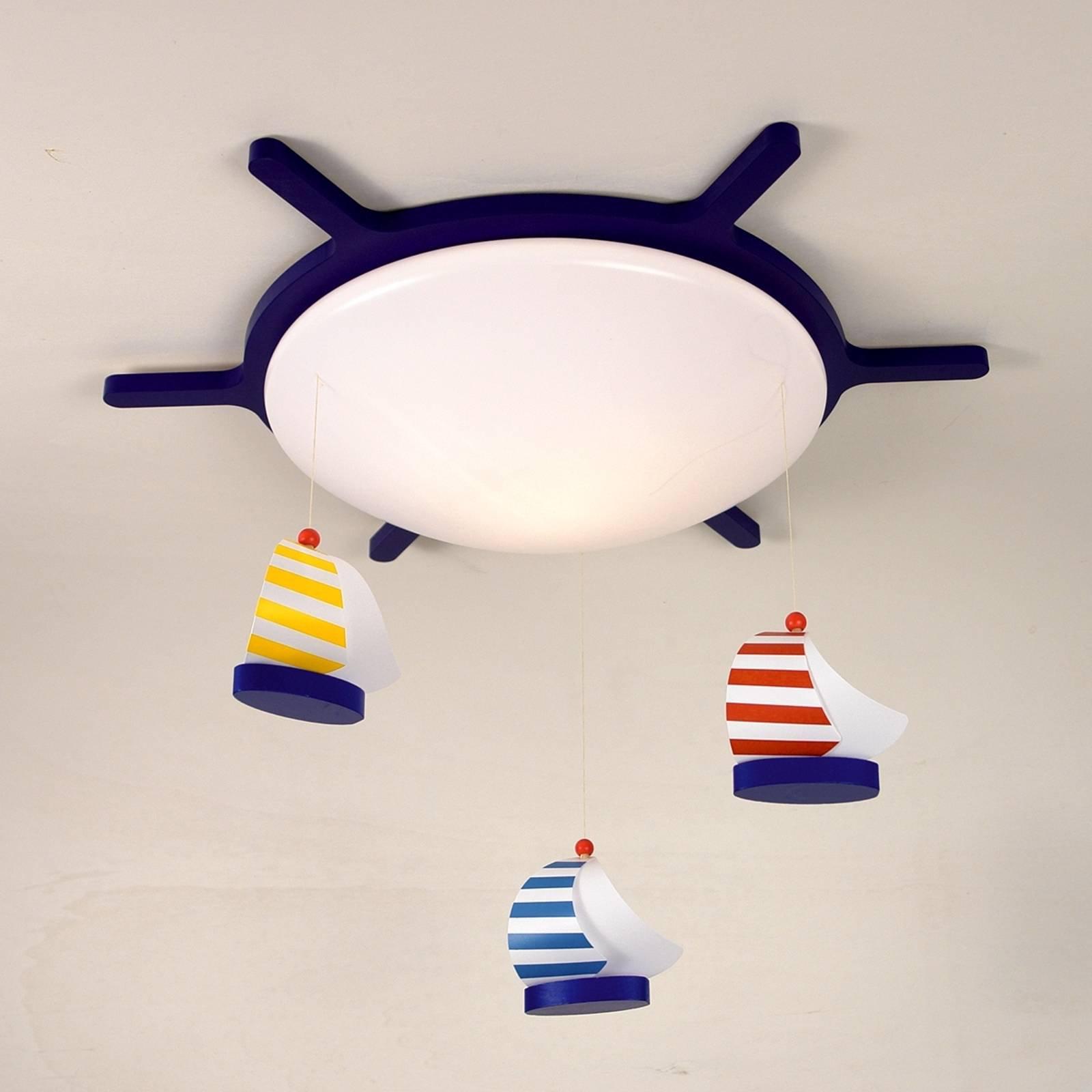 SEILBÅT taklampe med båtmotiv
