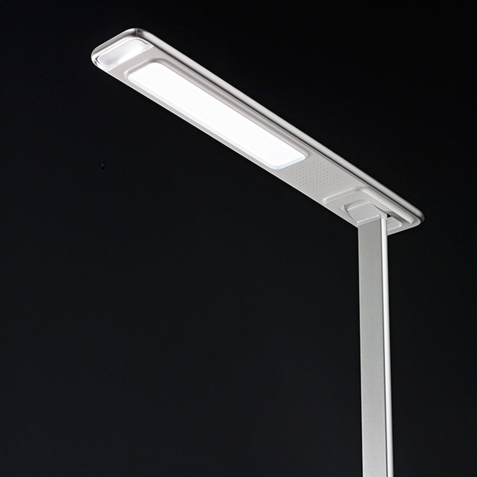 LED-skrivebordslampe Ivo med induktiv ladeplate