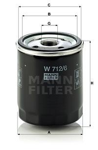 Öljynsuodatin MANN-FILTER W 712/6