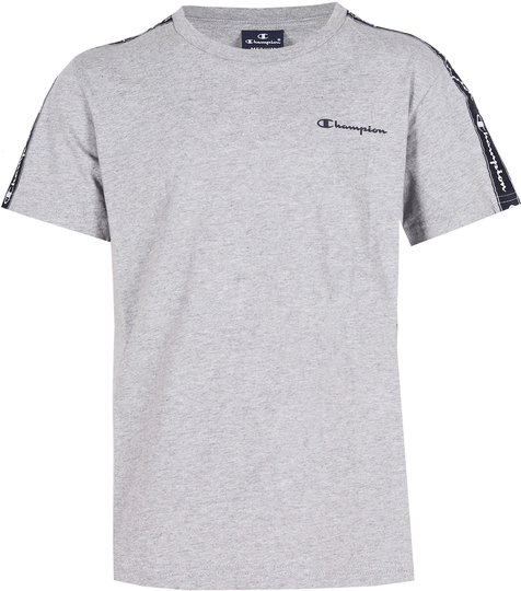 Champion Kids Crewneck T-Shirt, Grey Melange Light XS