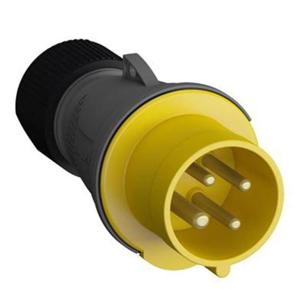 ABB 2CMA101954R1000 Pistotulppa 4-napainen, 16 A, CEE 316P4, keltainen