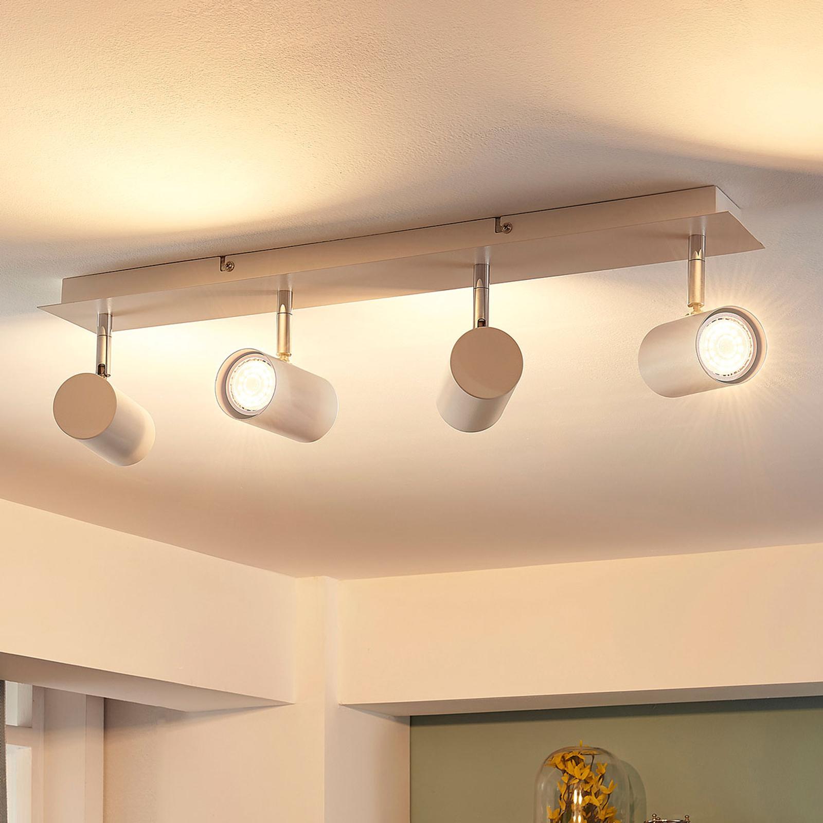 Kattokohdevalo Iluk valkoinen, LED, 4-lamppu