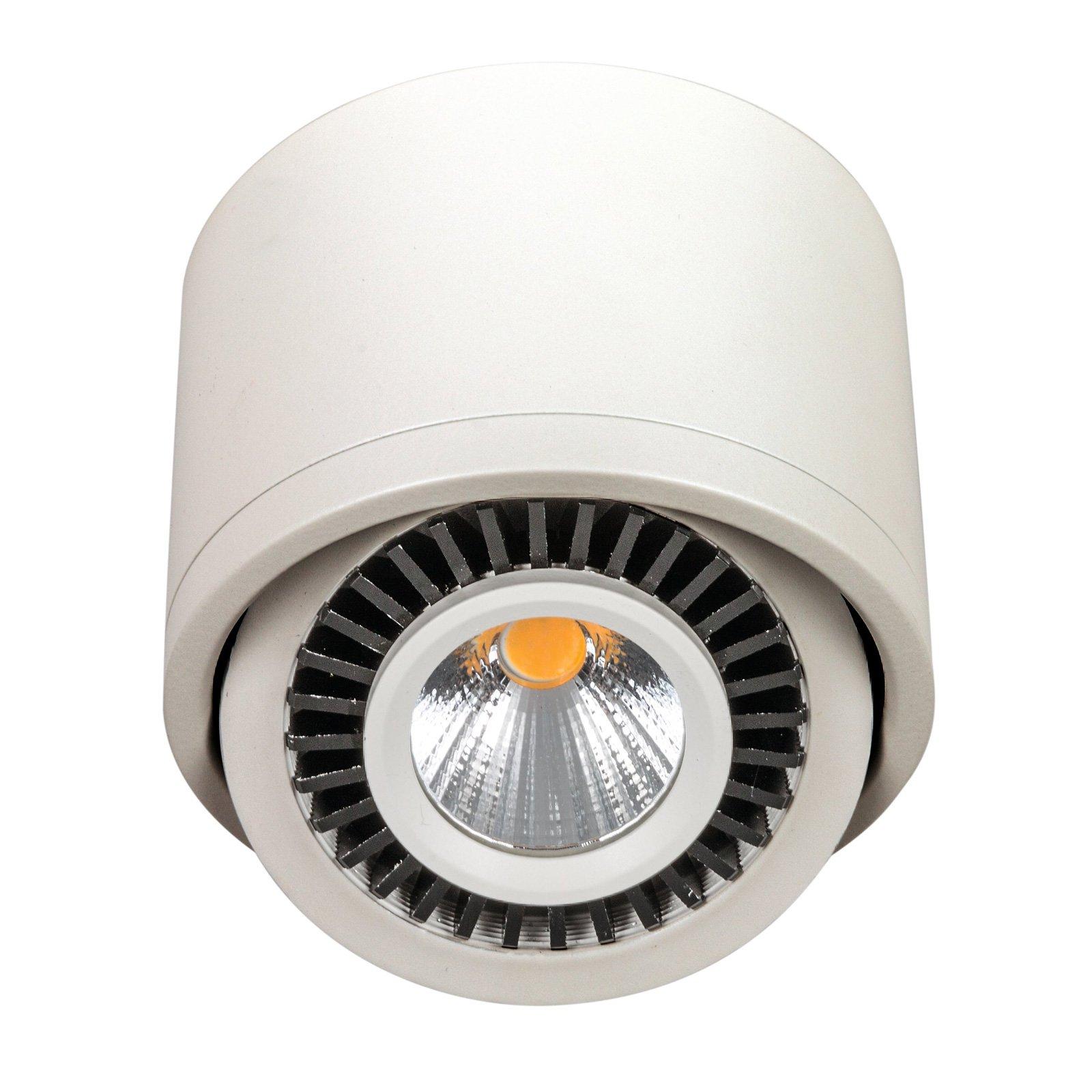 LED-takspot hvit, svingbar 90°