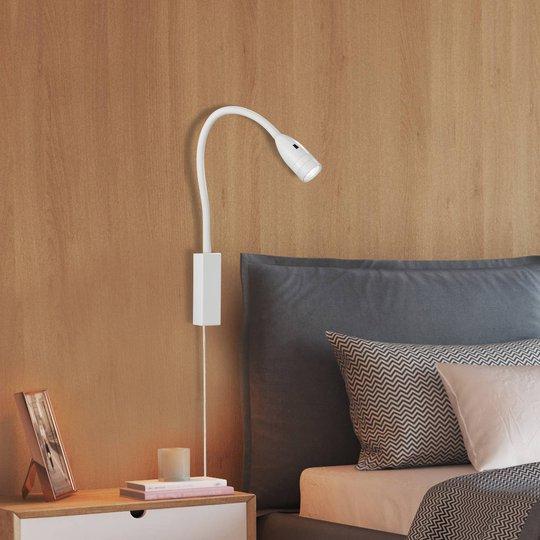 LED-vegglampe Sten med bevegelseskontroll, hvit