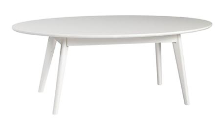 Yumi Soffbord Ovalt Vit 130x65 cm