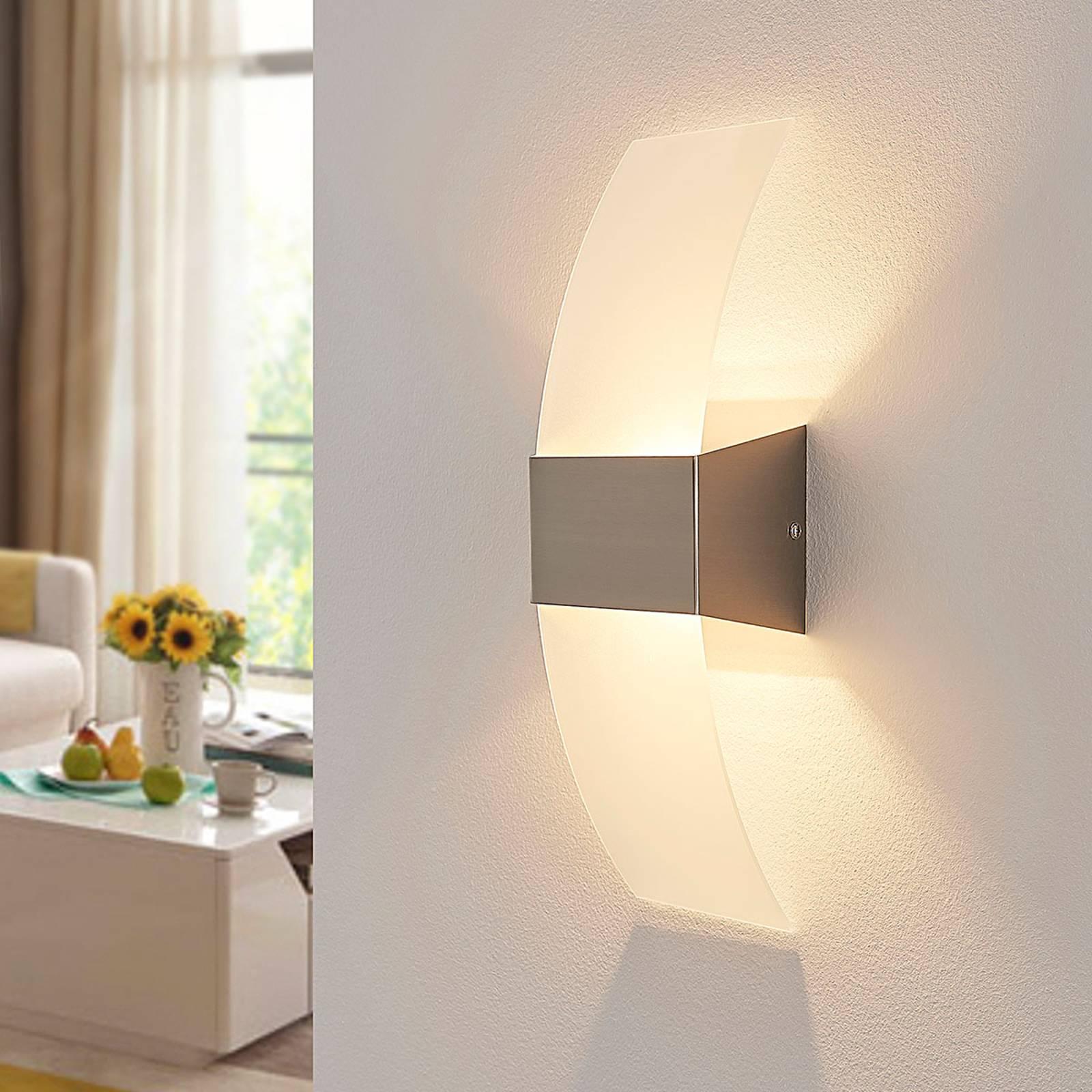 Kaunis LED-seinävalaisin Harry, matta nikkeli