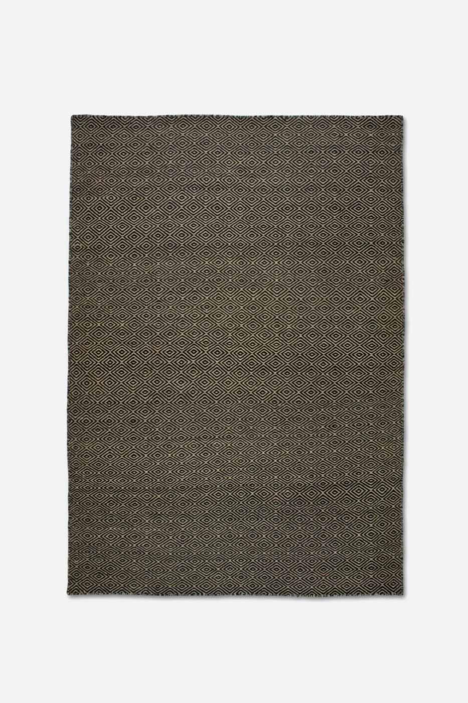 Matta Goose Eye 200x300cm Natur svart