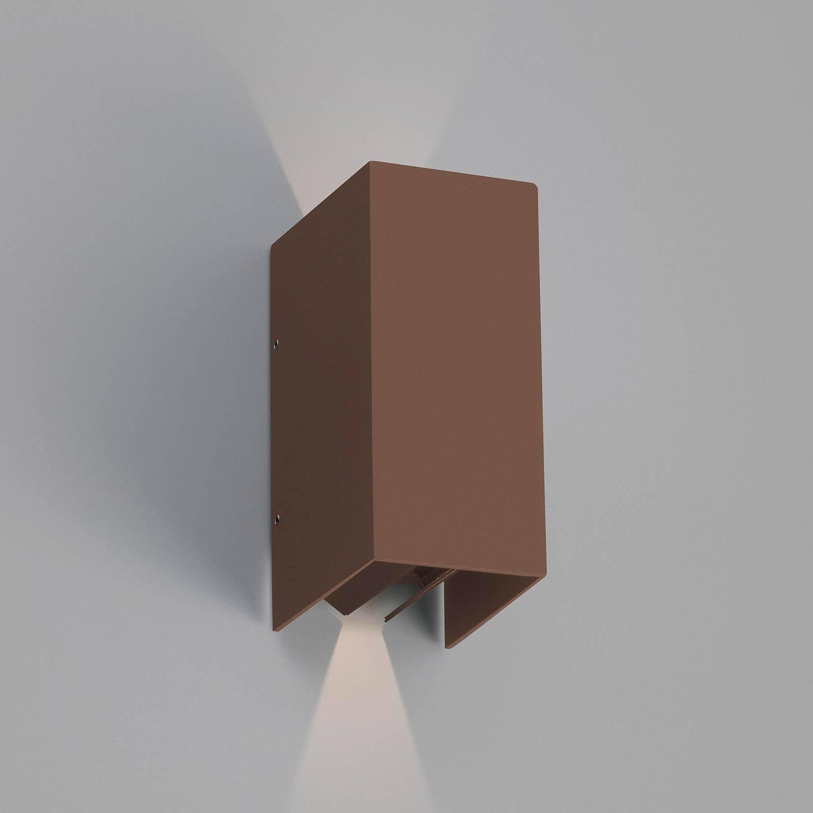 Utendørs LED-vegglampe Blind, rustbrun