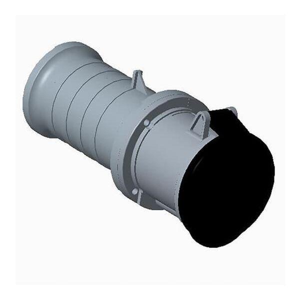 ABB 2CMA166848R1000 Jatkopistorasia suora, IP44 Musta, 5 h