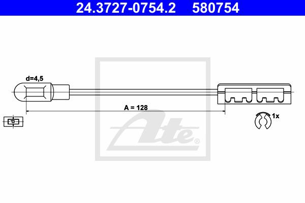 Käsijarruvaijeri ATE 24.3727-0754.2