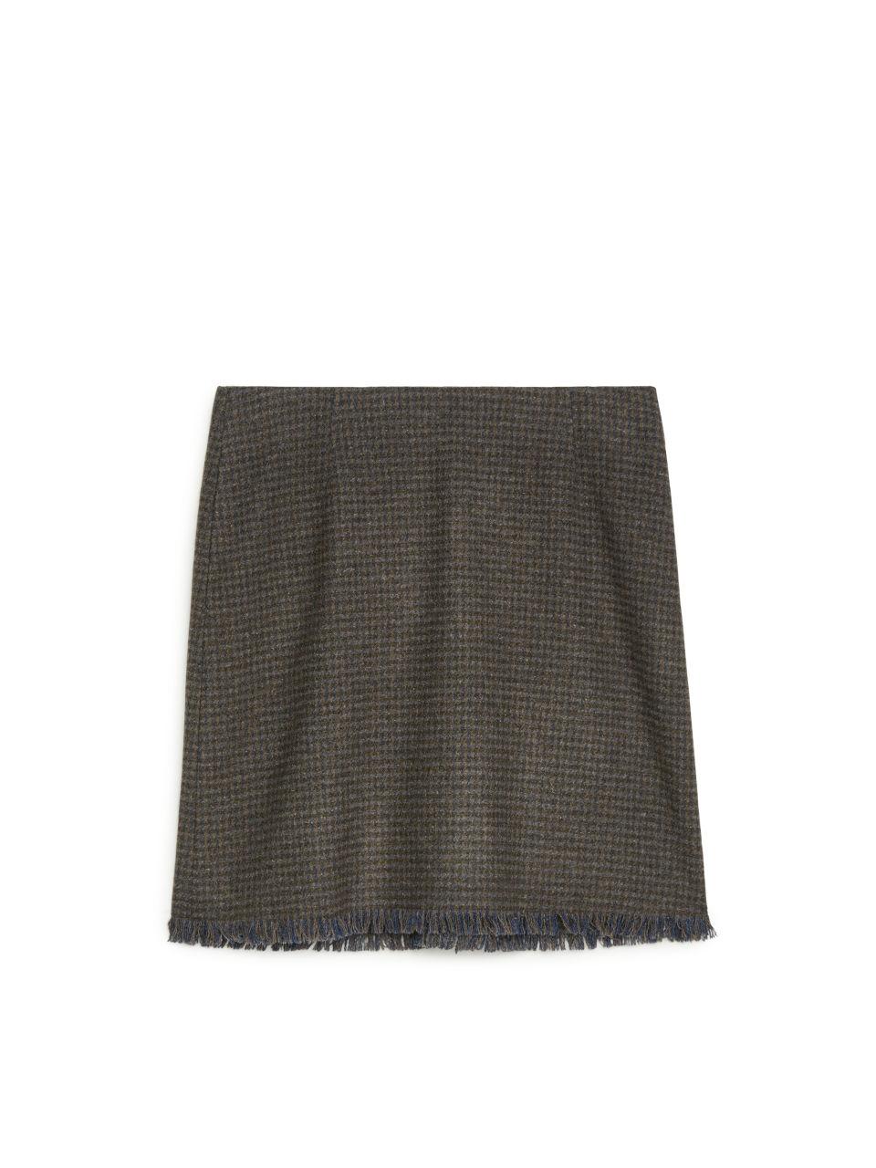 Tweed Skirt - Brown