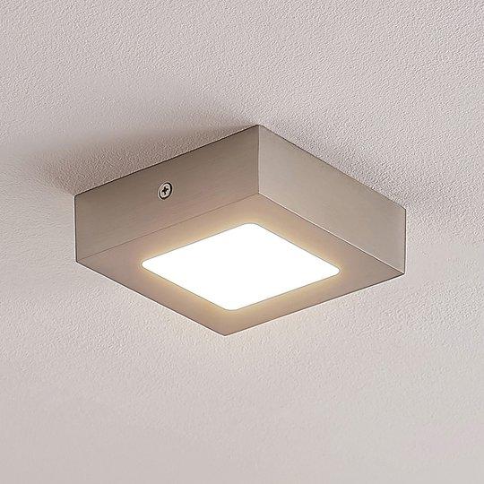 ELC Merina -LED-alasvalo, nikkeli, 12 x 12 cm