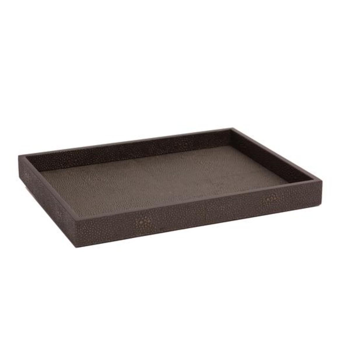 Posh Trading I Chelsea Medium Tray   Chocolate Shagreen