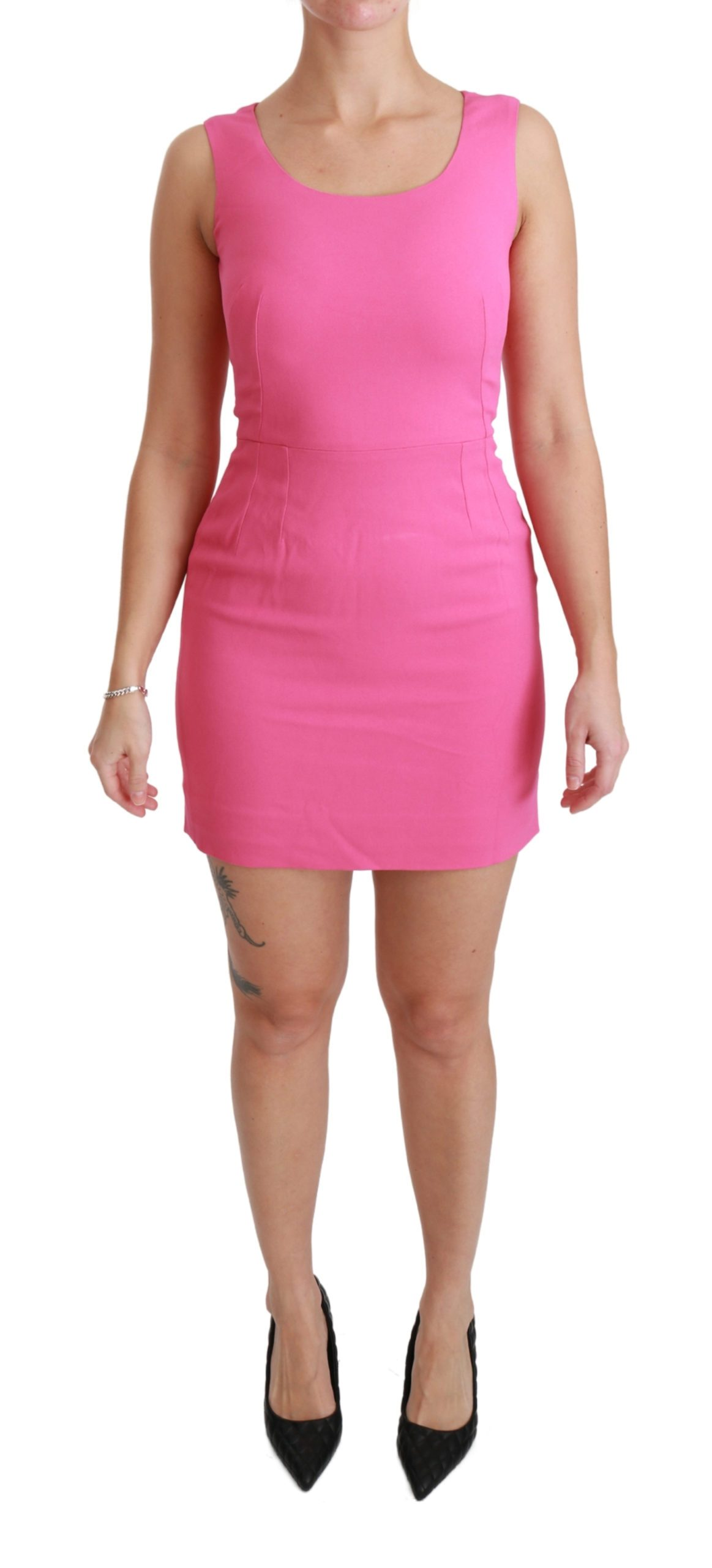 Dolce & Gabbana Women's Stretch Sheath Mini Bodycon Dress Pink DR2458 - IT40|S