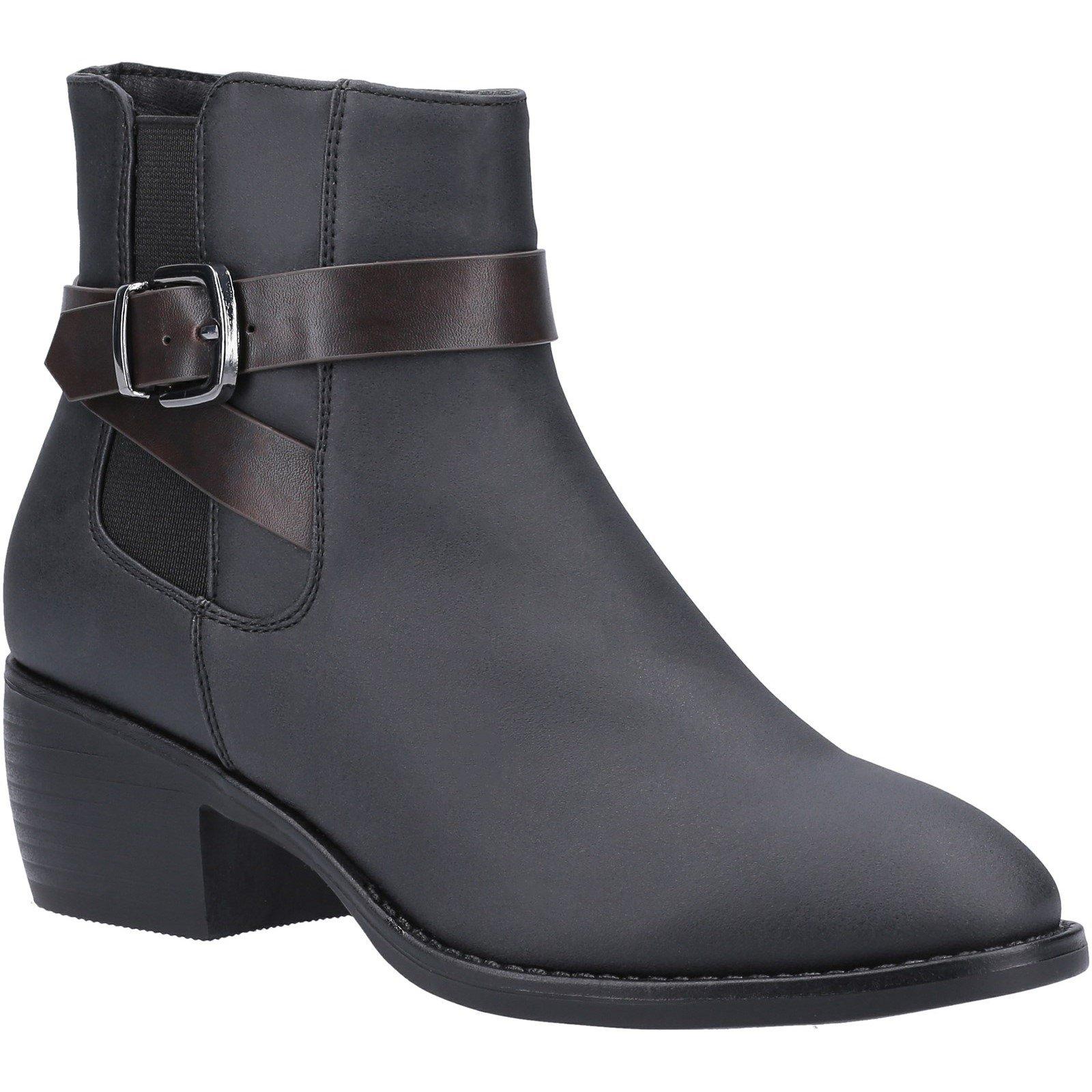Divaz Women's Farrah Ankle Boot Various Colours 31094 - Black 3