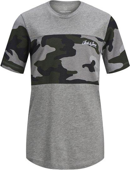 Jack & Jones Camopark T-Shirt, Light Grey Melange 164