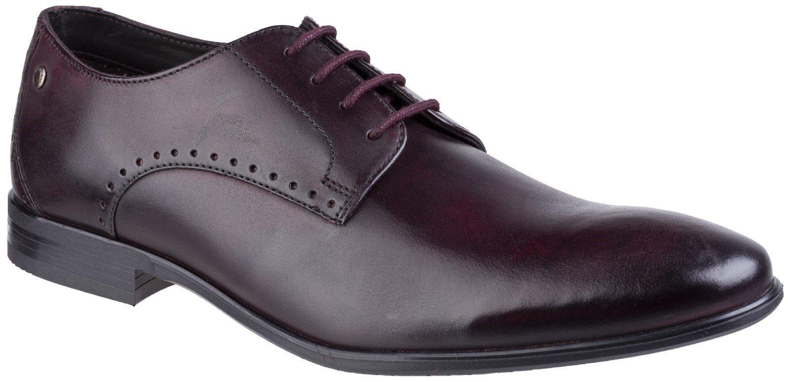 Base London Men's Westbury Washed Plain Toe Derby Shoe Bordo 27267 - Bordo 6