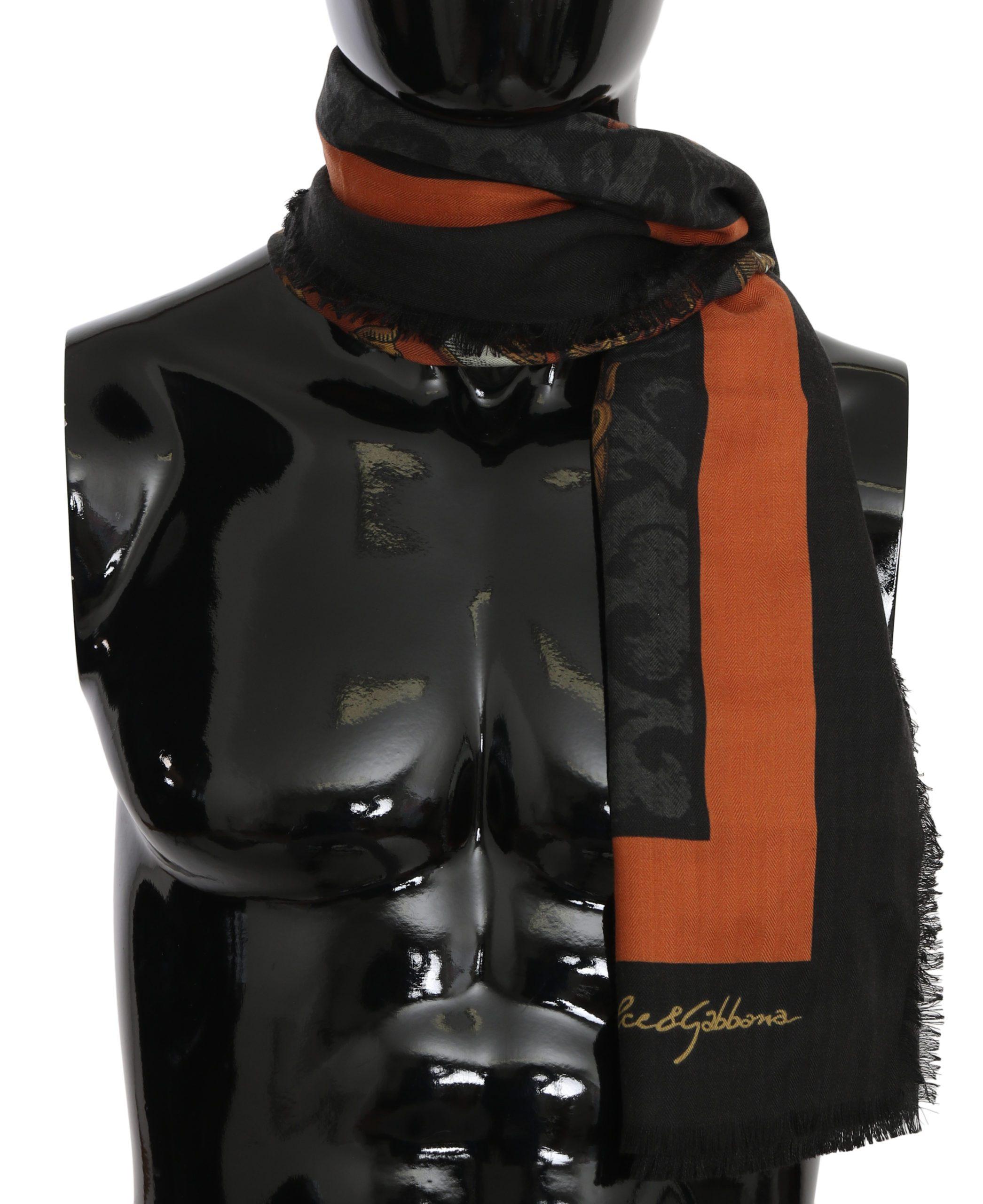 Dolce & Gabbana Men's Print Wrap Shawl Cashmere Scarf Multicolor MS6085