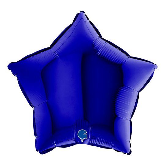 Folieballong Stjärna Blue Capri - 45 cm