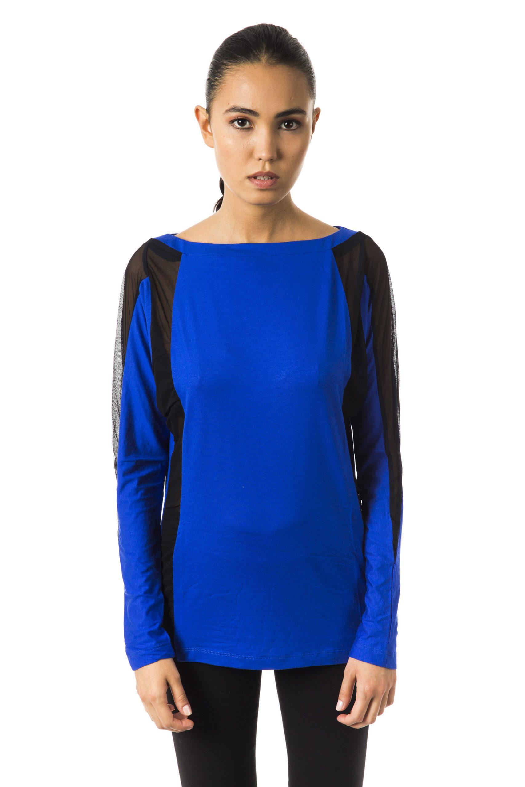 BYBLOS Women's Bluastrale T-Shirt Blue BY1234701 - S