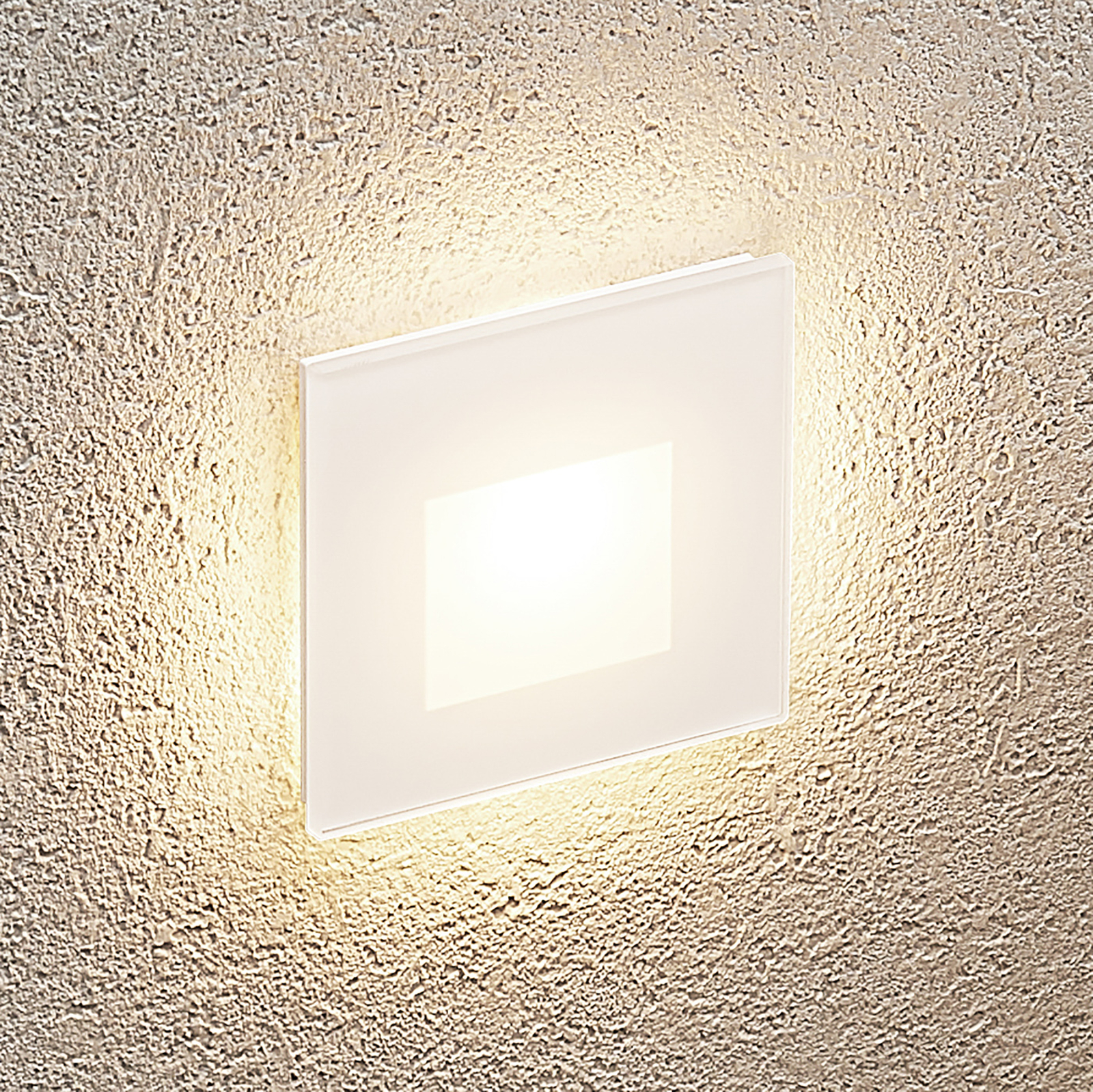 Arcchio Vexi -LED-uppovalaisin kulmikas valkoinen