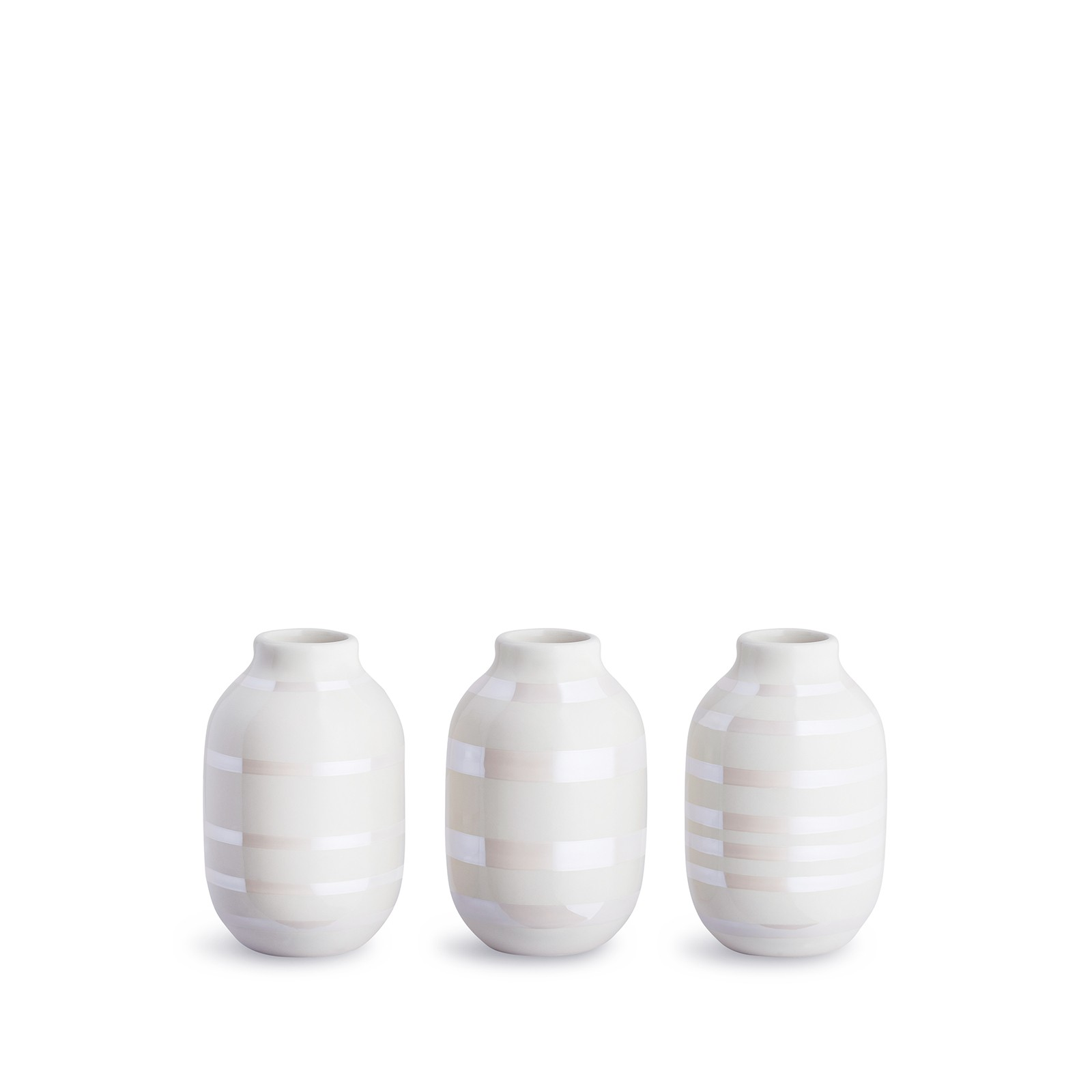 Kähler - Omaggio Miniature Vases - Pearl (691354)