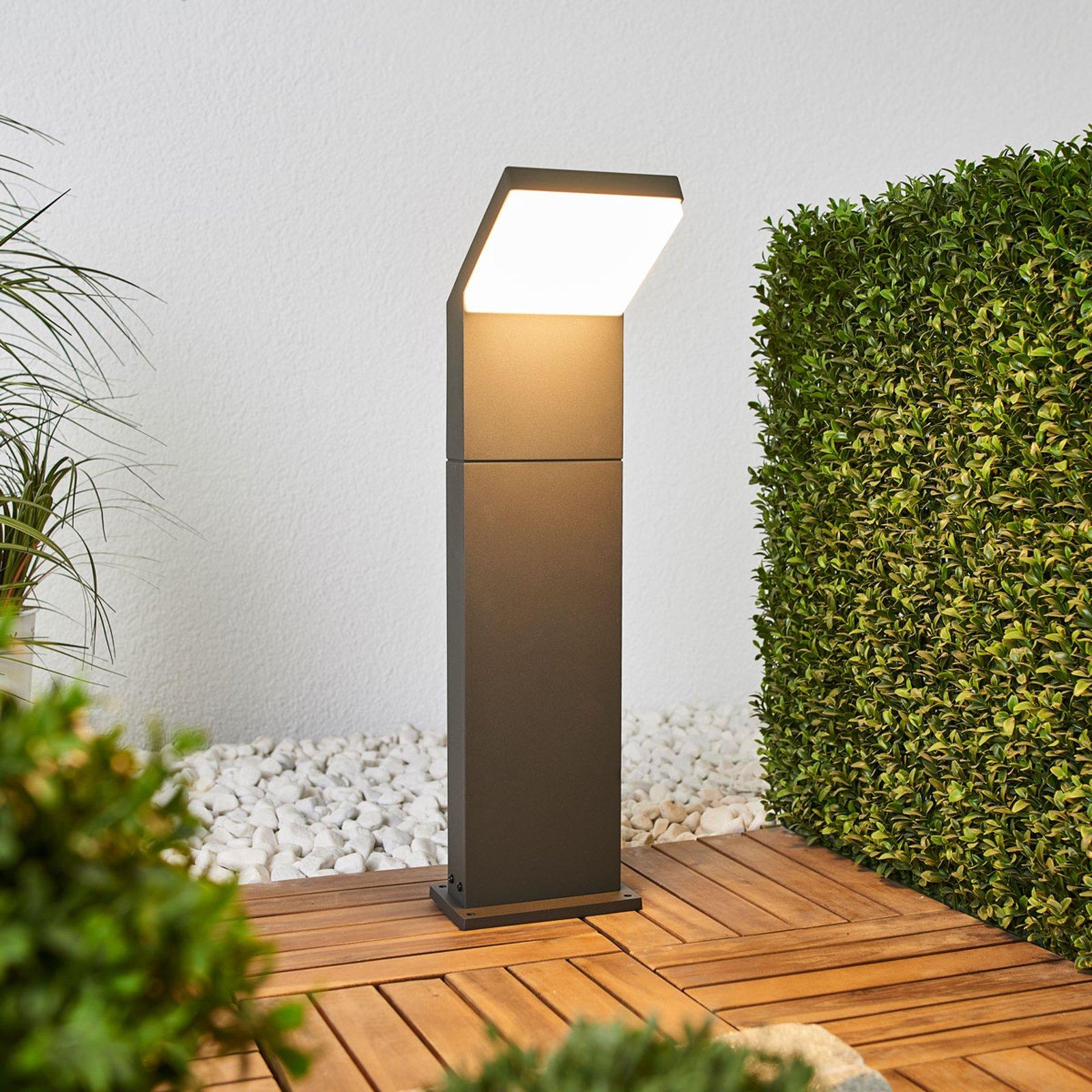 Grafittgrå LED-veilampe Yolena, 60 cm