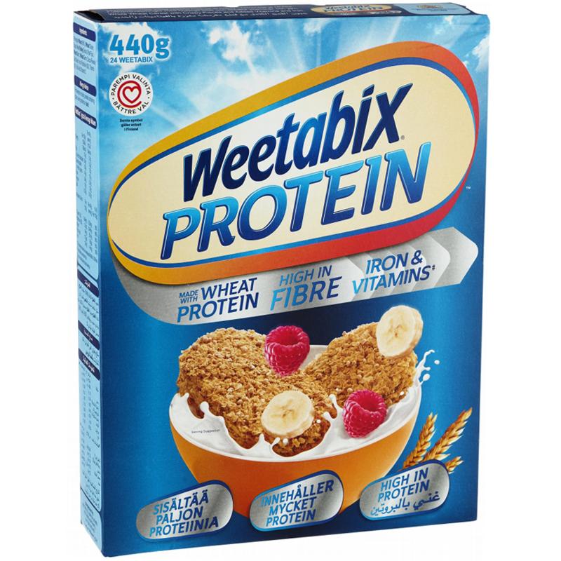 """Aamiaismurot """"Weetabix Protein"""" 440g - 63% alennus"""