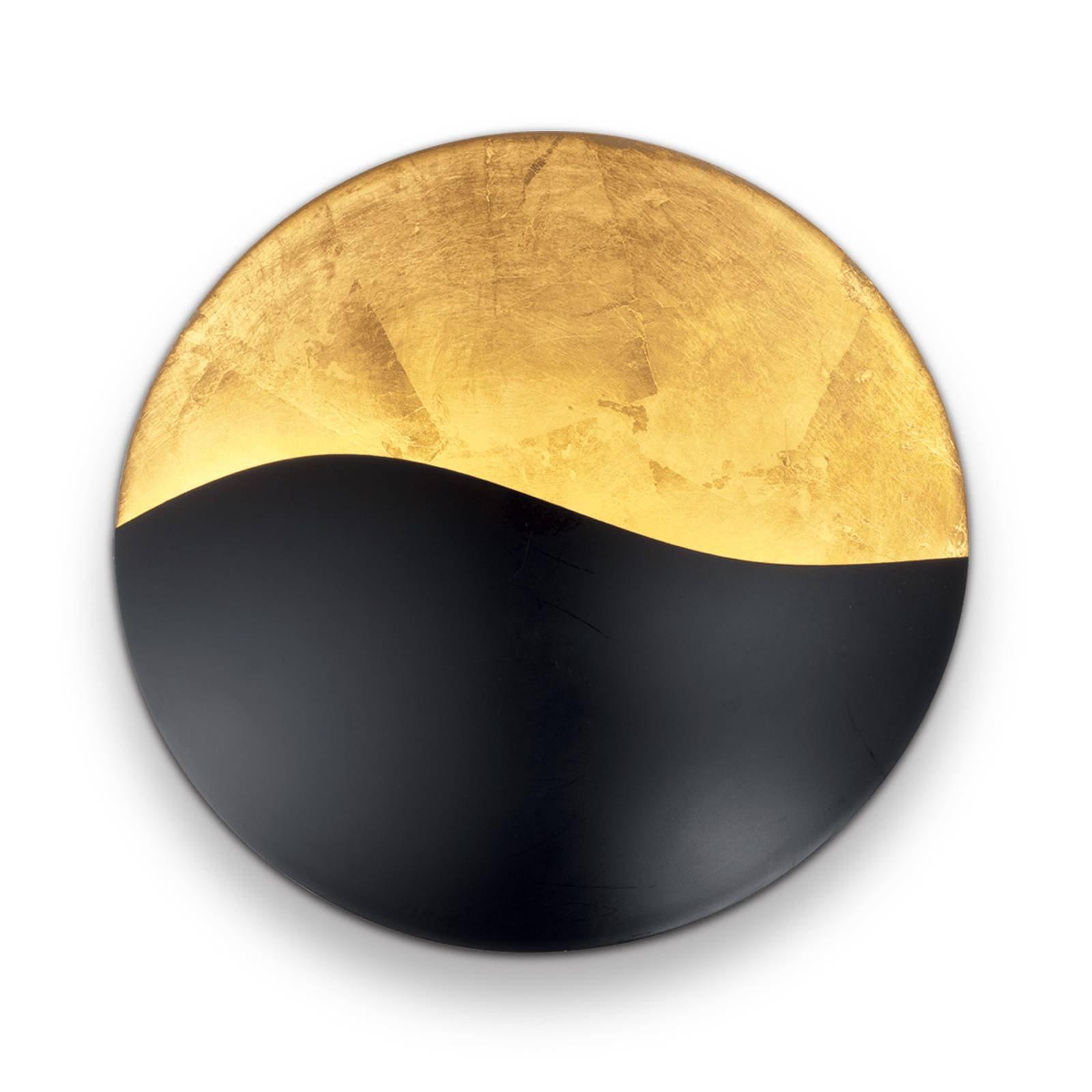 Vegglampe Sunrise G9, svart/gull, Ø 35 cm