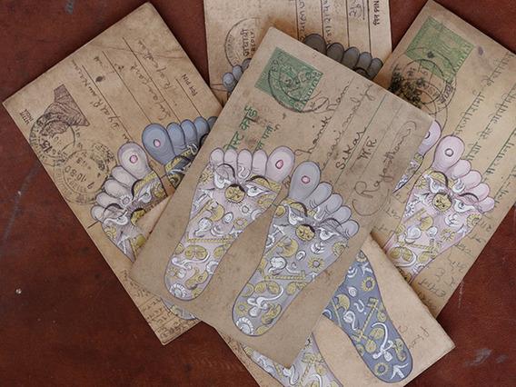 Vintage Postcard - Feet Chakra