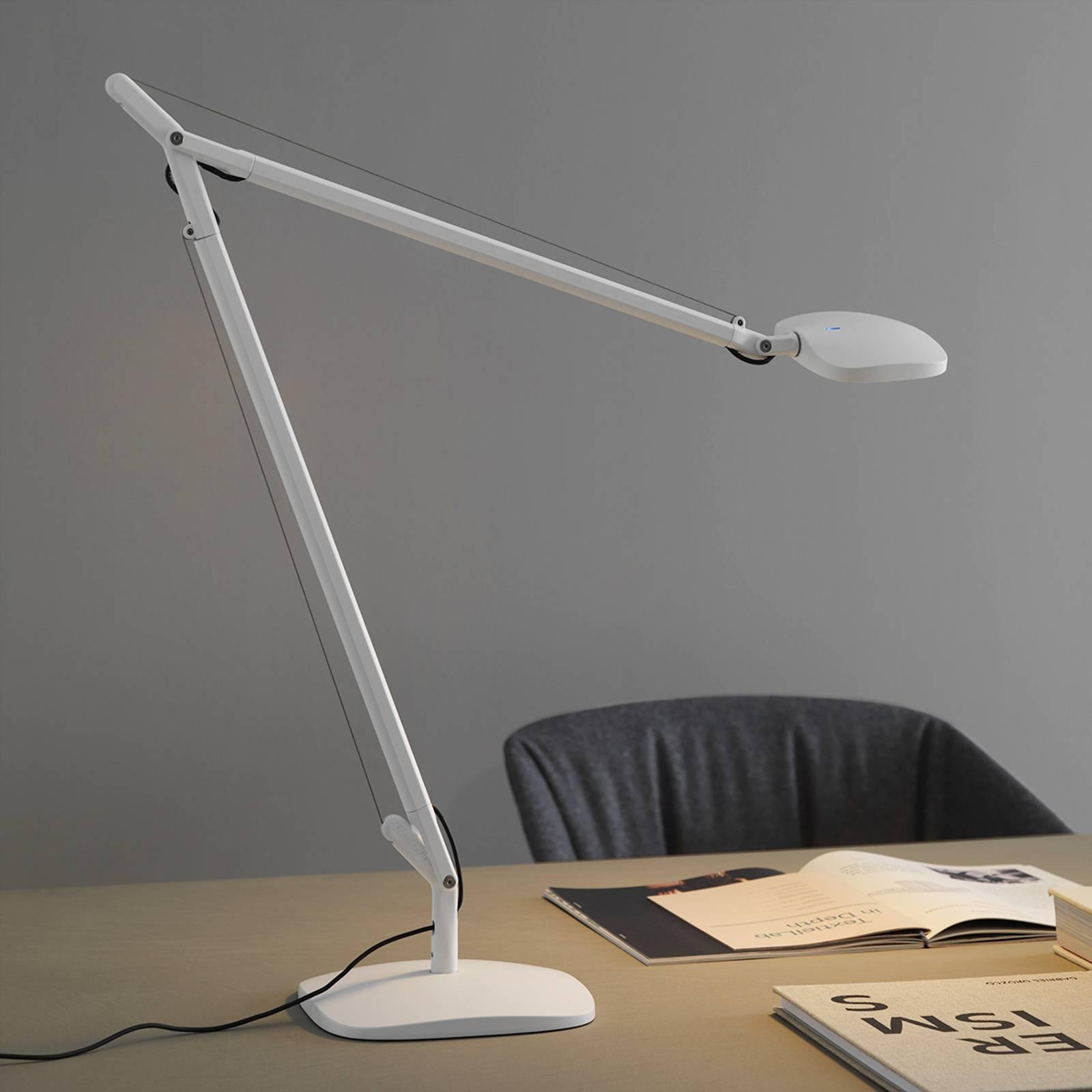 Fontana Arte Volee -LED-pöytälamppu, valkoinen