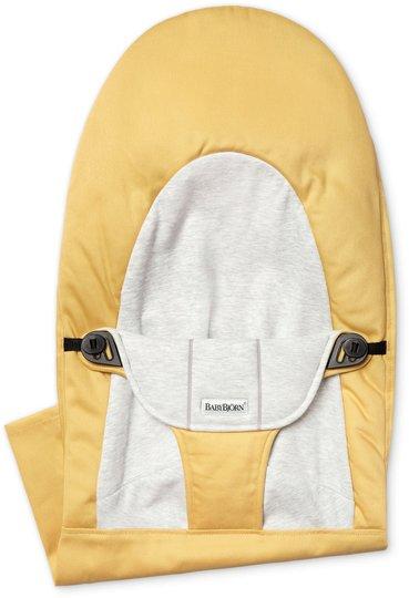 BabyBjörn Balance Soft Stoffsete, Cotton/Jersey, Gul/Grå