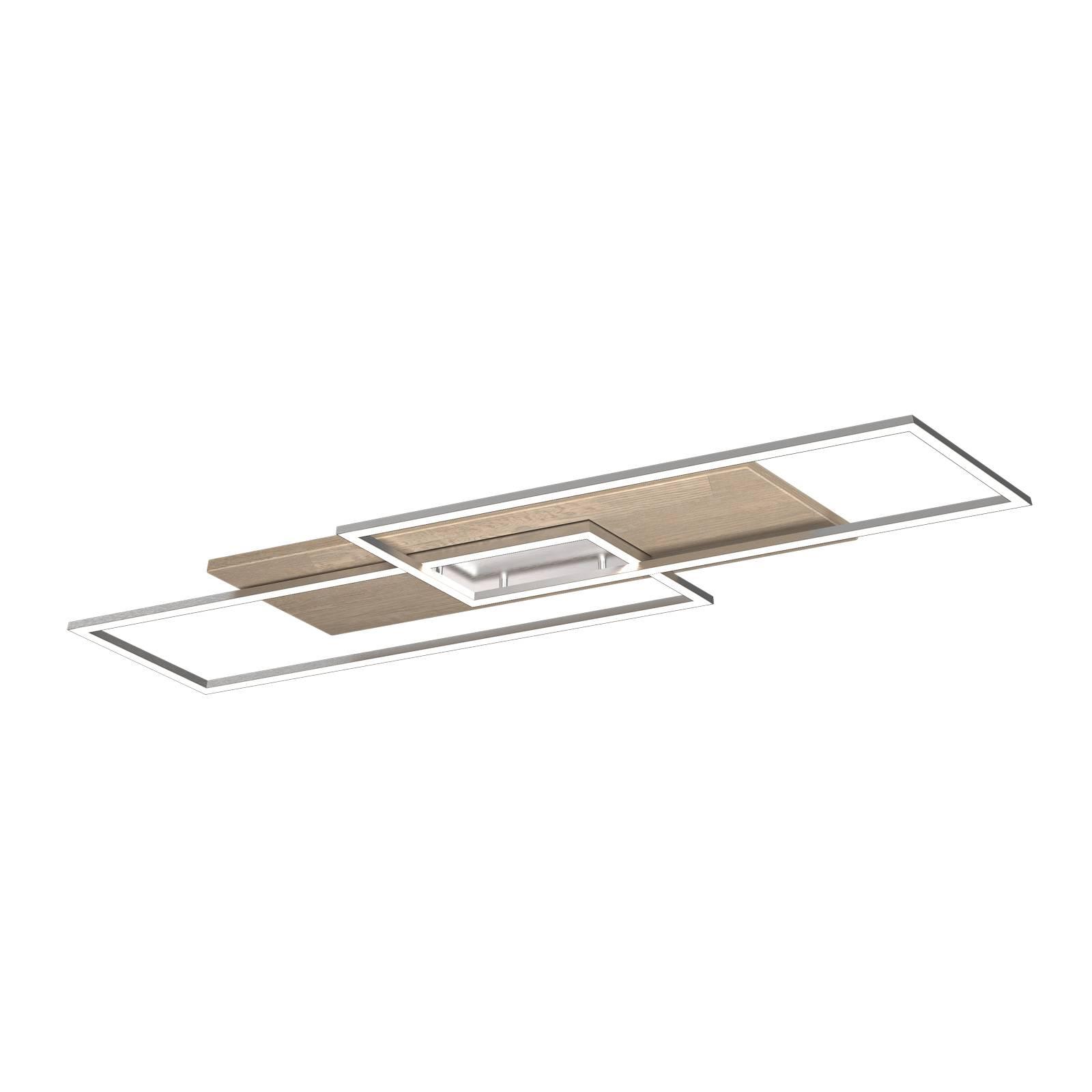 LED-kattovalaisin Panama XL, kalkittu tammi