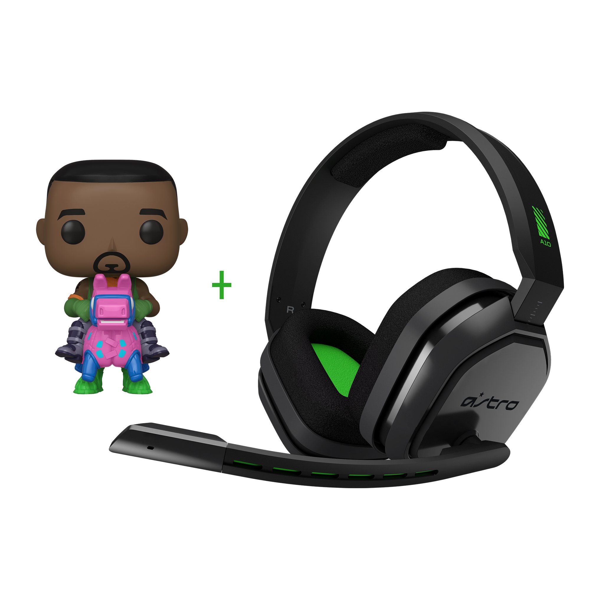 Astro - A10 Gaming Headset XB1-S,X Grey/Green + Funko! POP - Games: Fortnite - Giddy Up (44732)