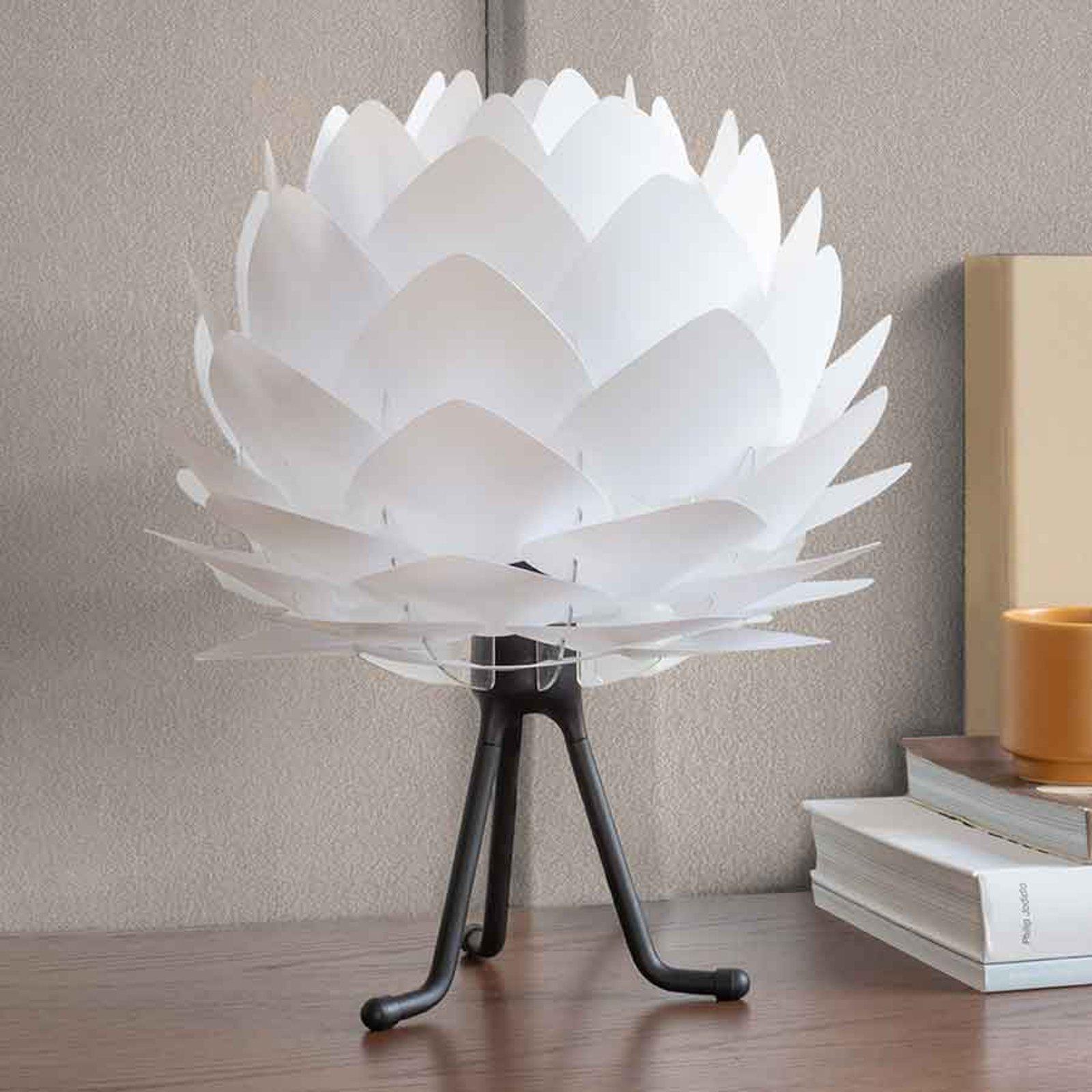 UMAGE Silvia Mini bordlampe hvit/tripod svart